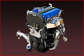 4G63エキゾーストマニホールド装着エンジン