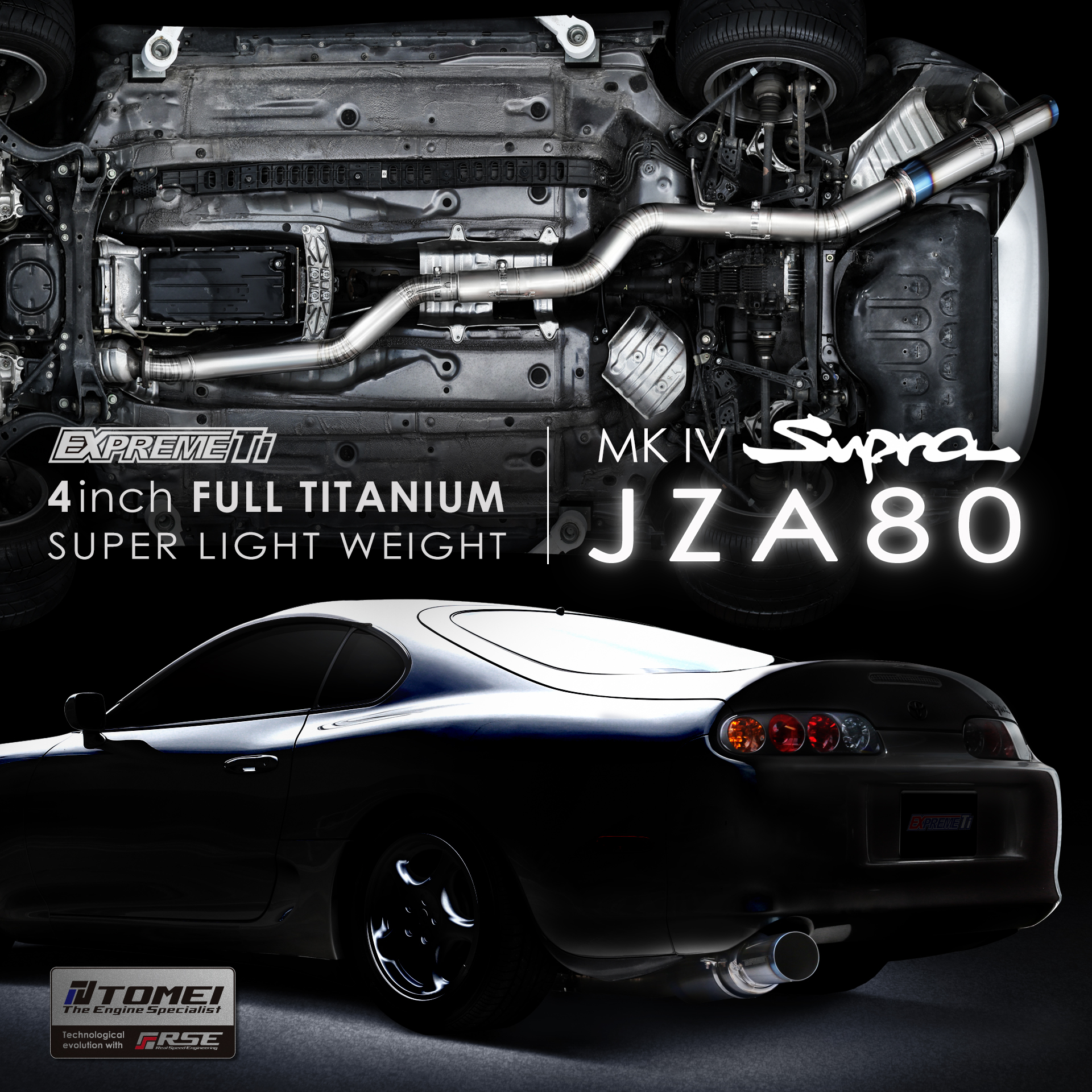 4inch  FULL TITANIUM MUFFLER  -MK IV SUPRA JZA80-