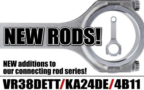 NEW RODS!  VR38DETT/KA24DE/4B11