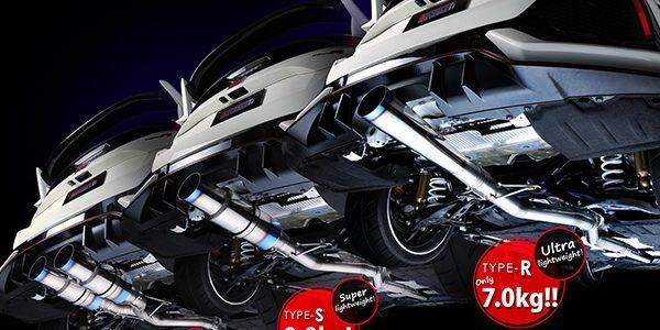 NEW RELEASE : CIVIC TYPE-R  3 designs FULL TITANIUM MUFFLER