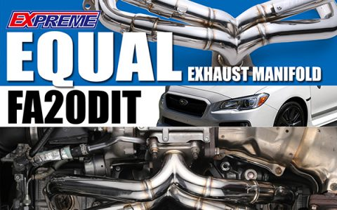 "NEW RELEASE : EFFICIENT POWER!  ""EQUAL"" EX-MANIFOLD FOR WRX FA20DIT"