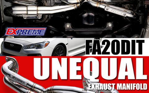 """NEW RELEASE:  BOXER SOUND!  """"UNEQUAL"""" EX-MANIFOLD FOR WRX FA20DIT"""