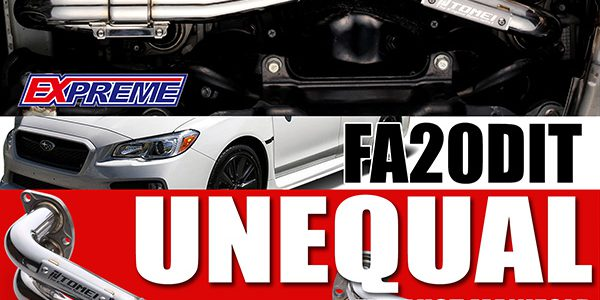"NEW RELEASE:  BOXER SOUND!  ""UNEQUAL"" EX-MANIFOLD FOR WRX FA20DIT"